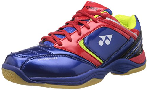 Yonex Excerol 301 Badminton Shoes, UK 6 (Navy/Lime Green/Red)