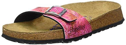 BirkenstockMadrid Birko-Flor Softfootbed - Ciabatte Donna , Rosa (Pink (Tropical Leaf Pink)), 42