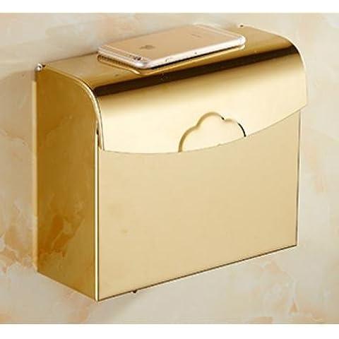 Stile contemporaneo montato a parete multifunzione per porta-carta igienica in ottone antico in acciaio inox porta-carta igienica lo stile per il bagno,d oltre a sezione rettangolare