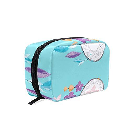 Bolsa de maquillaje 2 atrapasueños flor bolsa de cosméticos embrague