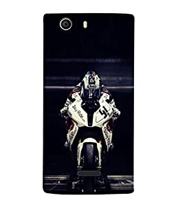 PrintVisa Designer Back Case Cover for Micromax Canvas Nitro 2 E311 (My Passion My Beautyful Bike Dream Stand On Road )