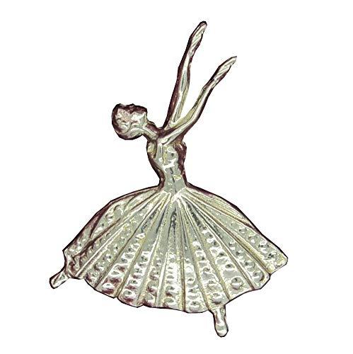 Brosche Ballerina. Hand gegossen von William Sturt aus Deutsch Zinn. - Zinn Ballerinas