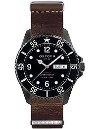 University Sports Press EX-D-MBB-44-NL-DB - Reloj de cuarzo unisex, correa de cuero color marrón