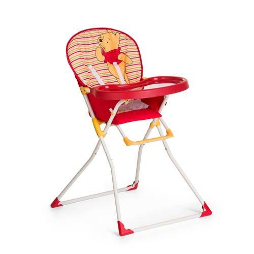 Hauck / Chaise Haute Mac Baby / Plateau Repas avec Approfondissement pour Boissons / Pliable / à partir de 6 mois, Pooh Spring Brights Red (Rouge)