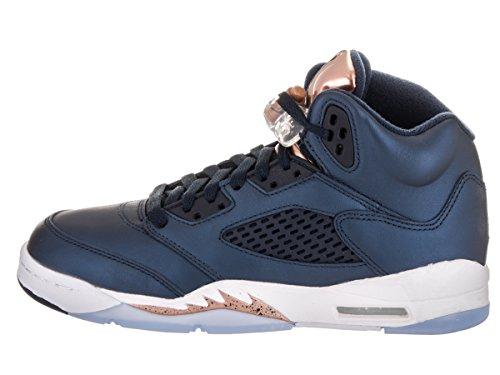 Nike Air Jordan 5 Retro Bg, Scarpe da Basket Uomo Black (nero (ossidiana / ossidiana-MTLC bronzo rosso-bianco))