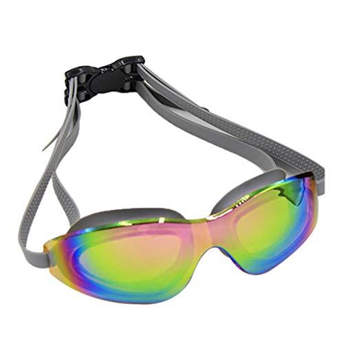 Floridivy BOIHON Unisex einstellbar Silikon großes Feld Schwimmen Gläser Anti-Fog UV Schutz Männer Frauen wasserdichte Schutzbrillen