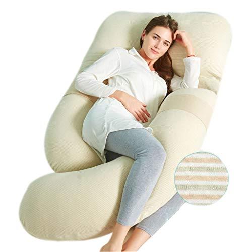 ZQ Seitenschläferkissen Schwangerschaftskissen Ganzkörper-Kissen Für Erwachsene Rückenstütze Lange Weiche U-Form Schwangerschaft Kissen Keil Mit Abdeckung Stillkissen