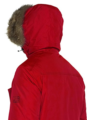 JACK & JONES, Parka Uomo Rosso (Chinese Red)