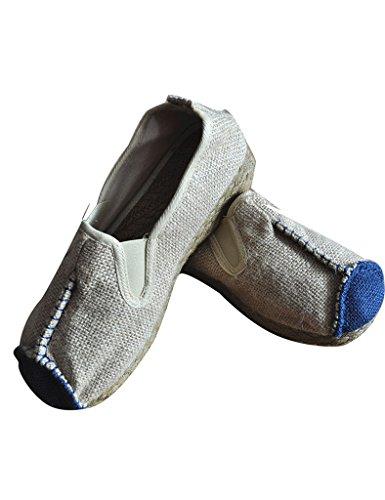 Youlee Frauen Leinen bestickt Schuhe Couple Schuhe Beige