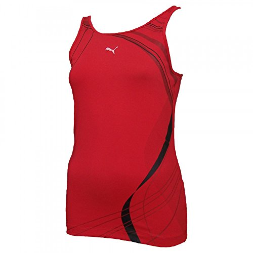 Puma Damen Sport-BH integriert Tank Top Red BNWT USP Aktive Virgin Active PUMA01_M (Aktiv-bh)