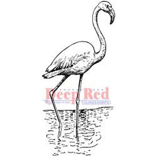 Preisvergleich Produktbild Deep Red Cling Stamp Flamingo