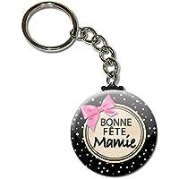 Bonne Fête Mamie Porte Clés Chaînette 3,8 centimètres Idée Cadeau Accessoire Fête des Grands Mères Noël Anniversaire