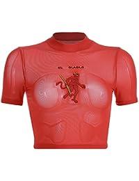 9c073886a47d8 Camiseta Bordada Diablo de Malla roja para Mujer