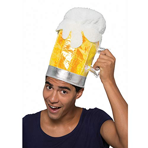 Erwachsene Bierkrug Hut Mütze Kopfbedeckung Weihnachten Kostüm Halloween Party für Feiertags-Tageskostüm (Bierkrug Erwachsenen Kostüme)