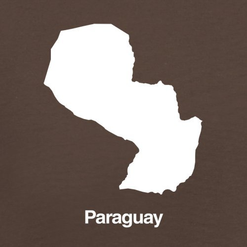 Paraguay / Republik Paraguay Silhouette - Herren T-Shirt - 13 Farben Schokobraun