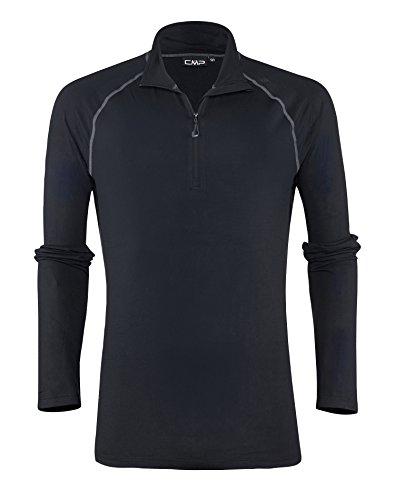 CMP Herren Fleece/Funktions-Shirt Fleeceshirt Nero Smoked