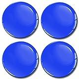 Skino 4 x 65mm Aufkleber 3D Gel Silikon Autoaufkleber Stickers Farbe Blau Felgenaufkleber Für Radkappen Nabenkappen Radnabendeckel Rad-Aufkleber Nabendeckel Auto Tuning Andere Größe A 865