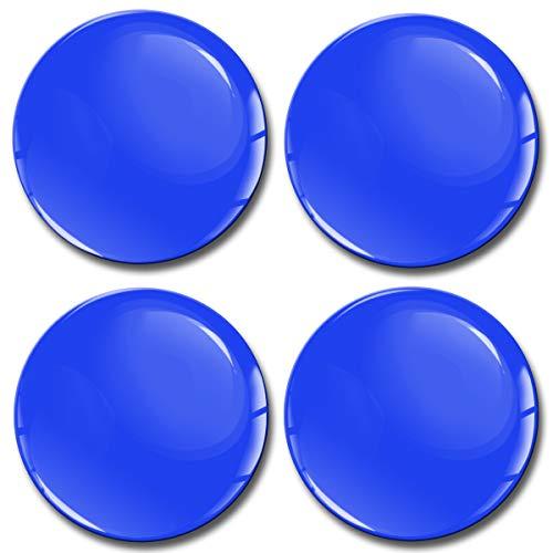 Skino 4 x 50mm Adesivi Resinati 3D Gel Stickers Auto Coprimozzi Logo Silicone Autoadesivo Stemma Adesivo Copricerchi Tappi Ruote Colore Blu A 850