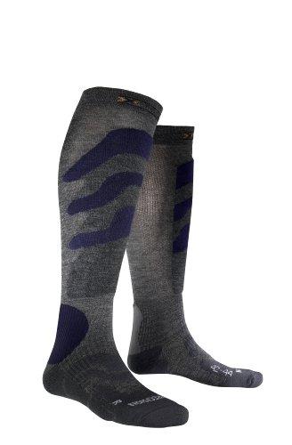 X-Socks Funktionssocken Ski Precision, Grey/Blue, 35-38   08300783126891