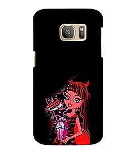 EPICCASE devil girl Mobile Back Case Cover For Samsung Galaxy S7 Edge (Designer Case)