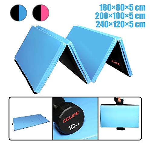 CCLIFE 200x100x5/180x80x5 Weichbodenmatte Turnmatte Klappbar Gymnastikmatte