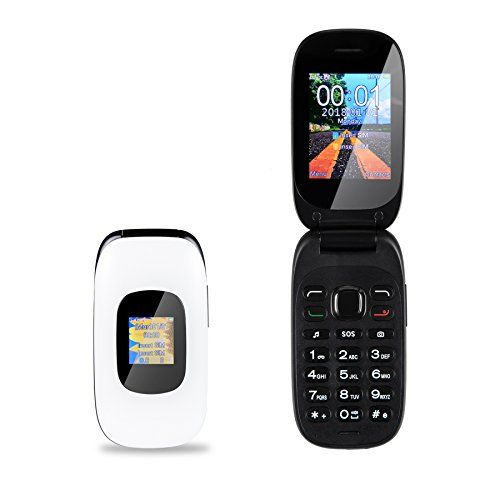 Großtasten Mobiltelefon Kppto V2, Seniorenhandy, Klapphandy mit Tasten (SOS-Taste, Lautstärker, Kamera, MP3-Video, Bluetooth, Taschenlampe, Externes FM) Ältere-, Kinder-, Damenhandy