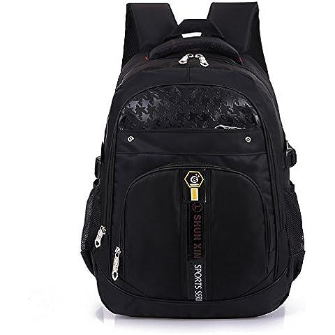 GQQ 2016 nuovo duplex Accademia vento coreano moda taglia grande in nylon doppia spalla borsa da viaggio , black
