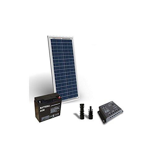 """Kit solar Pro 30W 12V panel solar Regulateur de carga 5a-pwm 1x batería'El """"kit solar Pro son ideales para aquellos que les gusta y quieren usar energía solar. Son el perfecto Tremplin para l 'enorme potencial que las energías renovables a a ofr..."""