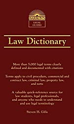 Law Dictionary: More than 5000 legal terms clearly defined and documented with citations. Terms apply to civil procedure, commercial and contract law, ... needs to understand and use legal terminology