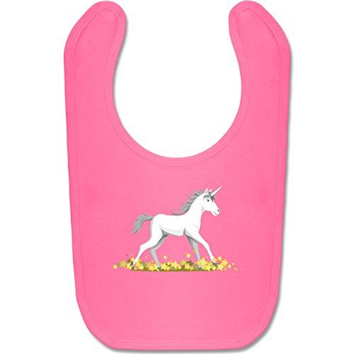 Tiermotive Baby - Einhorn mit Sternen - Unisize - Pink - BZ12 - Baby Lätzchen Baumwolle