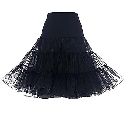 YILIA Women's Vintage Rockabilly Petticoat Skirt 1950s Underskirt