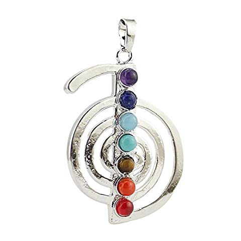 Contever® 7 Beads Chakra Charm Stone Reiki Healing Symbol Chu