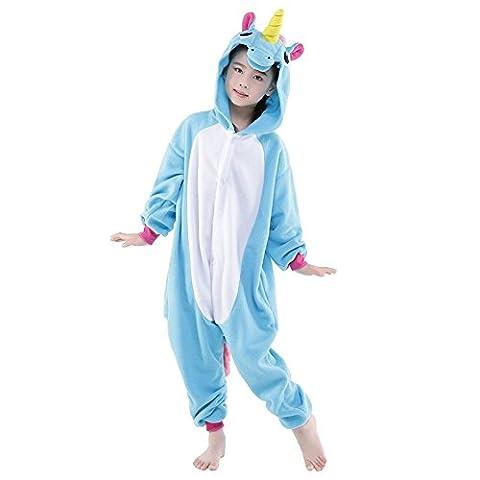 Costumes Fille Unicorn - Ensemble de Pyjama Grenouillère Costume Cosplay Onesie