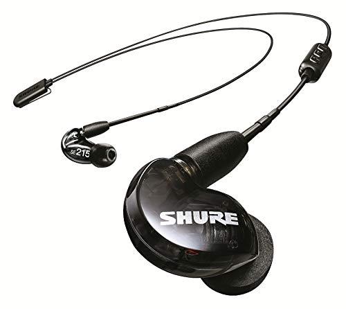 Shure SE215 Bluetooth 5.0 In Ear Kopfhörer mit Sound Isolating Technologie und Mikrofon für iPhone & Android - Premium Kabellos Ohrhörer mit warmem & detailreichem Klang - Schwarz thumbnail