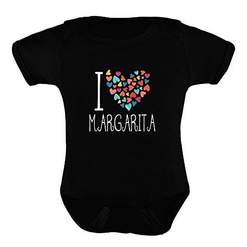 Margarita Körper (Idakoos I love Margarita colorful hearts - Getränke - Babystrampler)