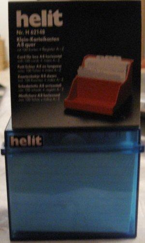 helit KleinKarteikasten Transluzent, A8 quer, blau H6904830