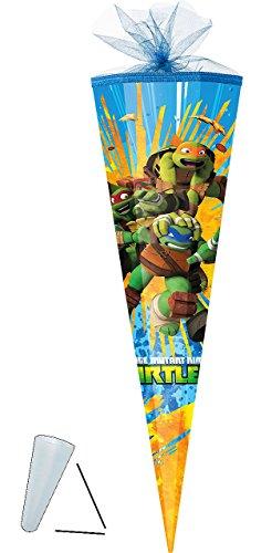 alles-meine.de GmbH passende 3D Bänder - Schleife - für Schultüte -  Teenage Mutant Ninja Turtles  - 22 / 35 / 50 / 70 / 85 cm - Zuckertüte ALLE Größen - mit / ohne Kunststof..