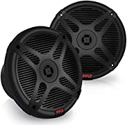 6.5 Inch Marine Speakers - Coaxial 2-Way Waterproof Component Speaker Pair | Audio Stereo Sound System with Wi