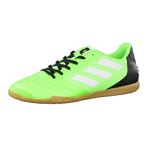 adidas Herren Ace 17.4 Sala Fußballschuhe, Rot Solargrün Weiß Schwarz