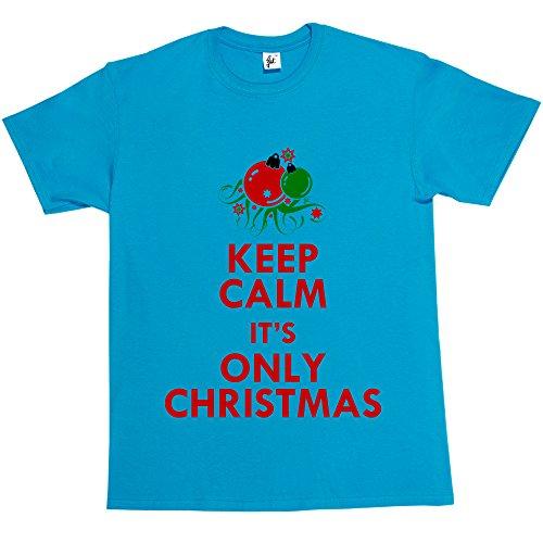 Fancy A Snuggle -  T-shirt - Collo a U  - Maniche corte  - Uomo Neon Blue