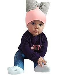 Zolimx Bambino Bambini Baby Girls Cappello Cappuccio Cotone Fiocco  Headwraps Capelli Accessori d00b9b510463