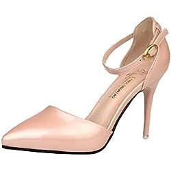 Elegante Schuhe mit hohen Absätzen Damen Sandalen (EU38, rosa)