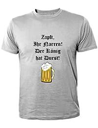 Mister merchandise t-shirt tendance zapft votre narren. der könig hat durst.