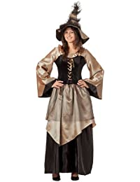 r-dessous hochwertiges Hexenkostüm und Hut Zauberin Feen Mittelalter Damen Kostüm Halloween Outfit Karneval