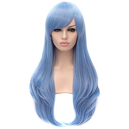 Baisheng Sky Blue Hair End Wellenförmige Frauen Gerade -