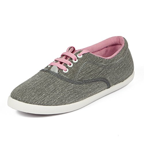 Asian shoes RL-24 Pink Canvas Women Shoes 8UK/Indian