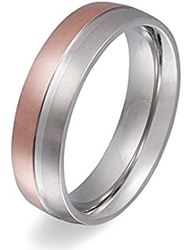 Flame -Ring Trauring Antragsring Partnerring Edelstahl Rosegold vergoldet - mit gratis Gravur E-EY-H