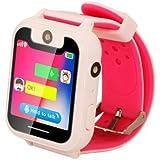 Orologio intelligente per bambini impermeabile con SOS e tracker, ampio touch screen, chat vocale bidirezionale, giochi di ma