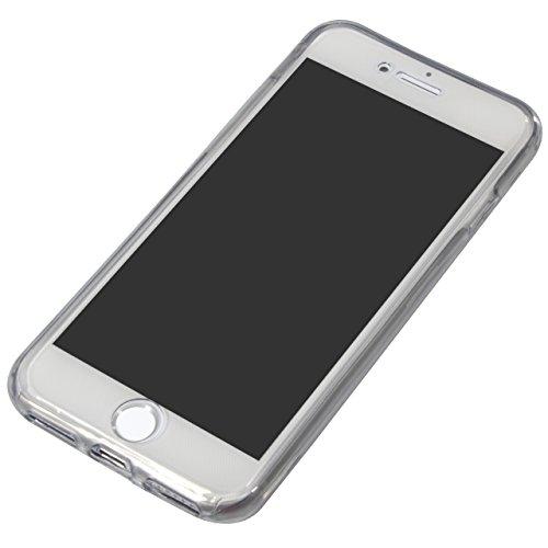 iPhone 8 Coque,Vandot 2 en 1 Etui pour iPhone 8 / iPhone 7 Liquid Crystal TPU avec Absorption de Choc Anti-rayures Housse Souple Silicone Clair Transparente Ultra Mince Ultra Léger Case pour iPhone 8  Paillette-Argent