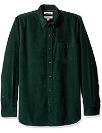 Goodthreads Camisa de Pana Standard Fit de Manga Larga Hombre